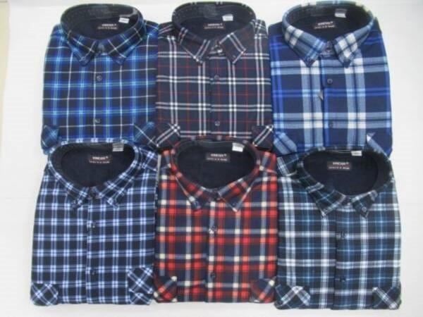 Koszula Męska Długi Rękaw TT049A  MIX KOLOR 4XL-6XL OCIEPLANA
