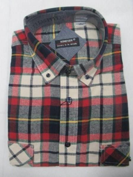 Koszula Męska Długi Rękaw TT051 1 KOLOR M-3XL OCIEPLANA
