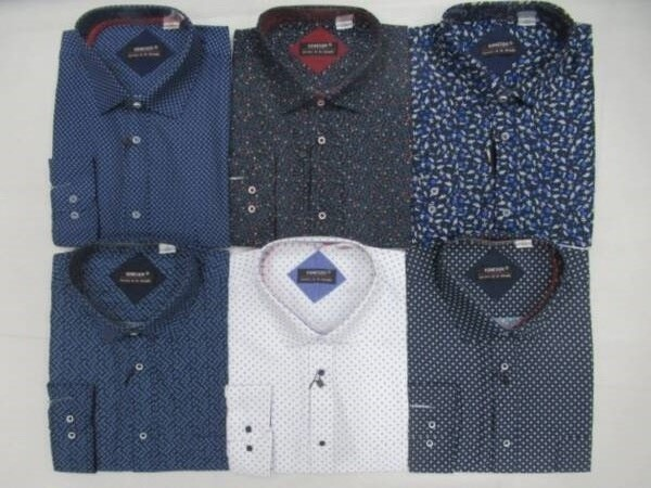Koszula Męska Długi Rękaw TT061(A) MIX KOLOR M-3XL OCIEPLANA