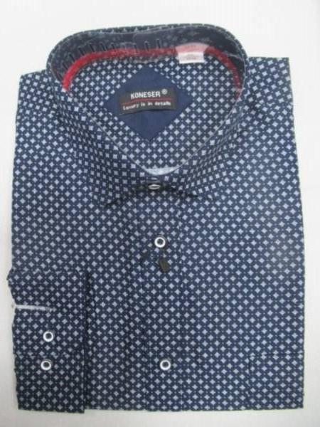 Koszula Męska Długi Rękaw TT061(A) 1 KOLOR M-3XL OCIEPLANA