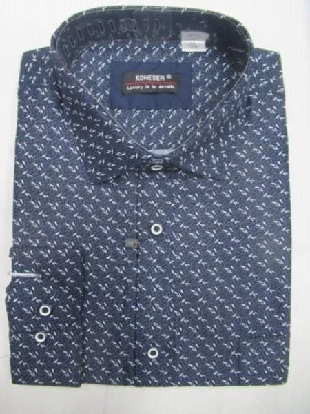 Koszula Męska Długi Rękaw TT061(B) 1 KOLOR M-3XL