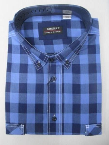 Koszula Męska Długi Rękaw NT059 1 KOLOR M-3XL