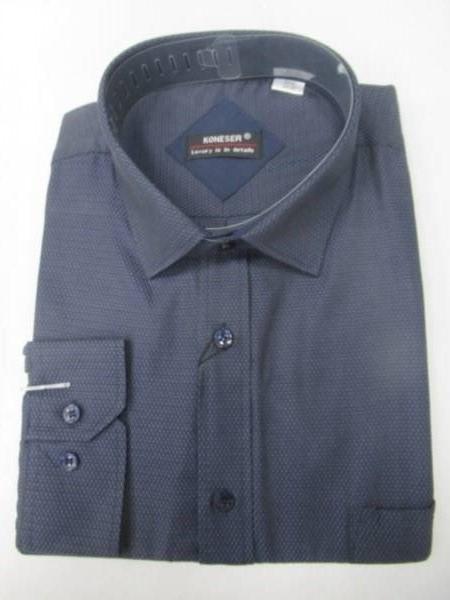 Koszula Męska Długi Rękaw TT063(KNF) 1 KOLOR M-3XL