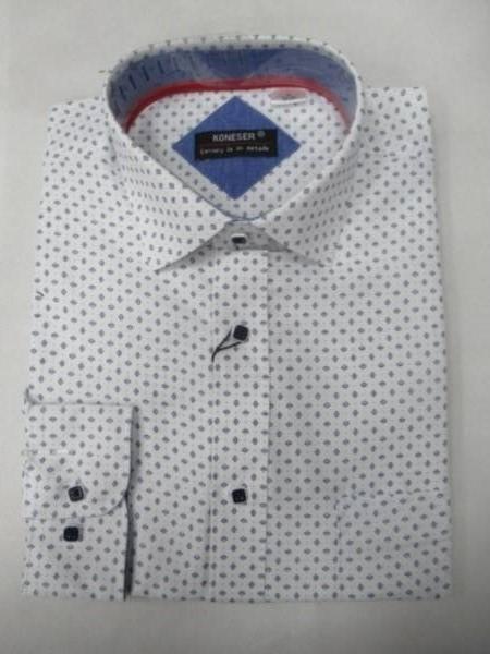 Koszula Męska Długi Rękaw TT061(C) 1 KOLOR M-3XL