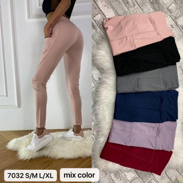 Spodnie Damskie 7032 MIX KOLOR S/M-L/XL