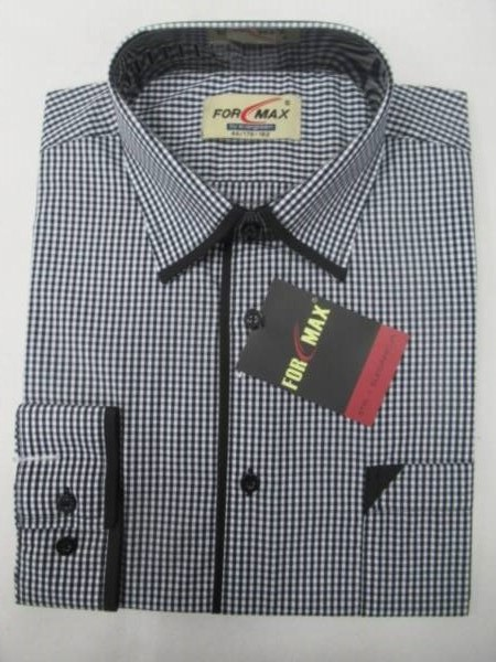 Koszula Męska Długi Rękaw FV068B 1 KOLOR 39-46