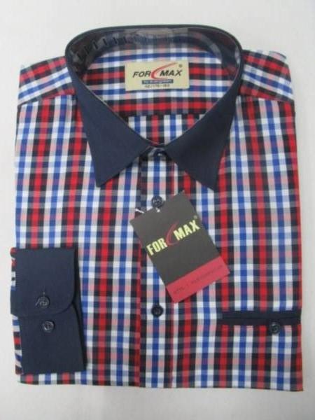Koszula Męska Długi Rękaw FV068B(FV5-5) 1 KOLOR 39-46