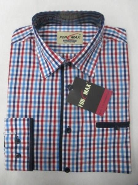 Koszula Męska Długi Rękaw FV053(FV3-15) 1 KOLOR 39-46 1