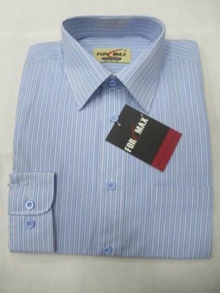 Koszula Męska Długi Rękaw JV032(QKQ19-24) 1 KOLOR 38-46