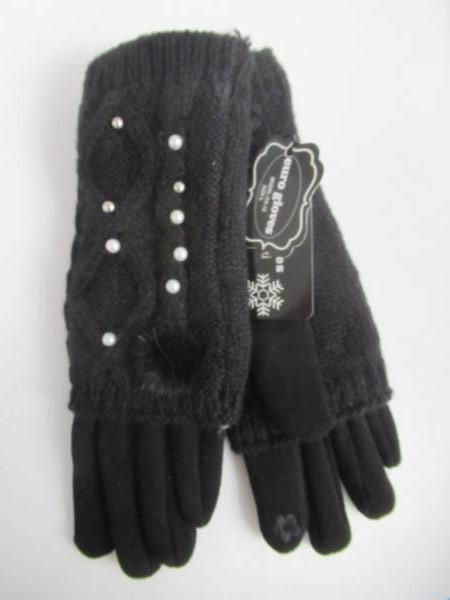 Rękawiczki Damskie CA12 MIX KOLOR M-L ( Ocieplane )