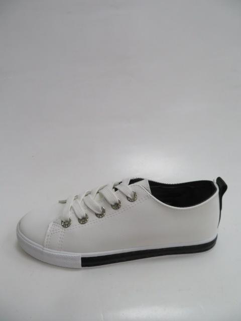 Trampki Damskie  LA-66-15, White/Black, 36-41