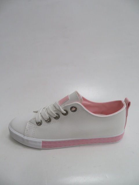 Trampki Damskie  LA-66-15, White/Pink, 36-41