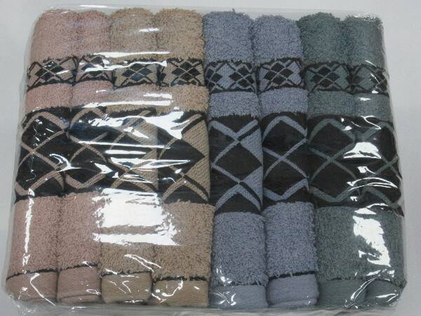 Komplet Ręczników F9858 MIX KOLOR 50X100 CM