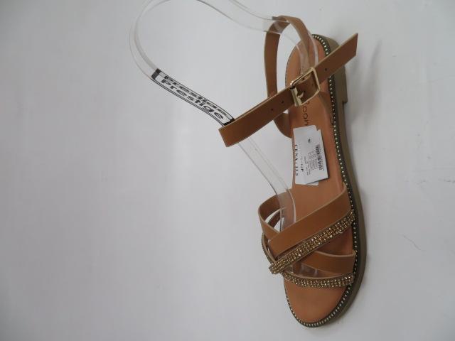 Sandały Damskie WL248, Camel, 36-41