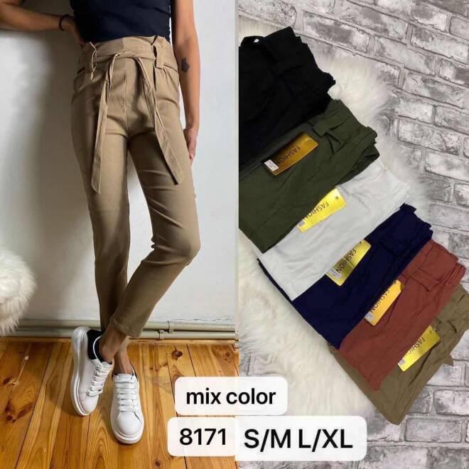 Spodnie Damskie 8171 MIX KOLOR S/M-L/XL