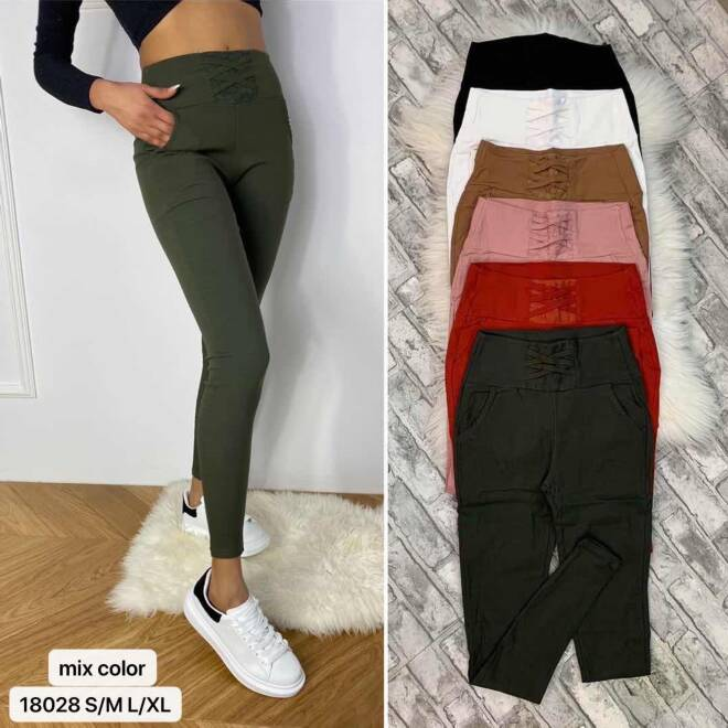 Spodnie Damskie 18028 MIX KOLOR S/M-L/XL