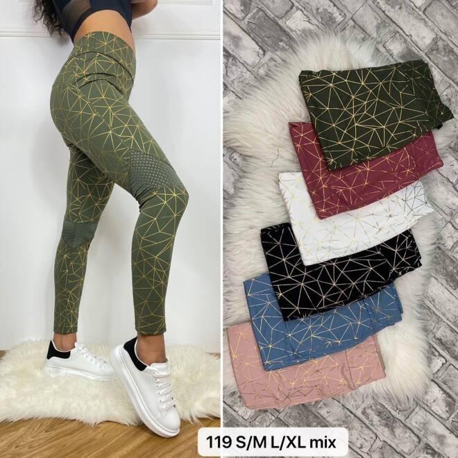 Spodnie Damskie 119 MIX KOLOR S/M-L/XL