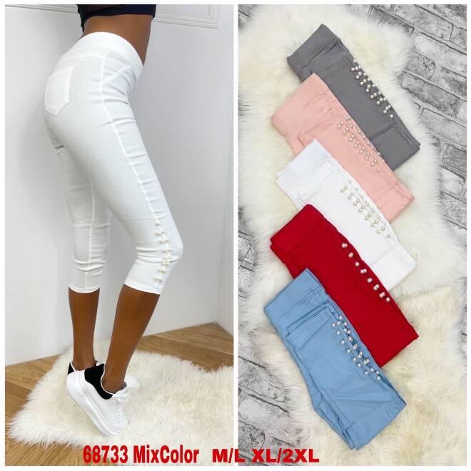 Spodnie Damskie 68733 MIX KOLOR S/M-L/XL