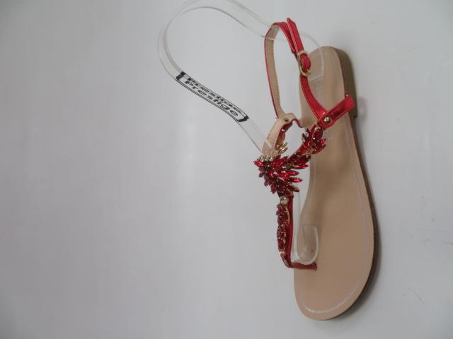 Sandały Damskie 1250, Red, 36-41