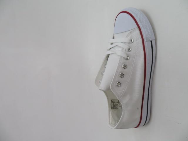 Trampki Damskie 608A-10, White/Red, 36-41