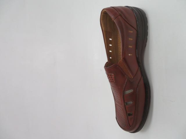 Półbuty Męskie 1303-2, Brown , 41-46