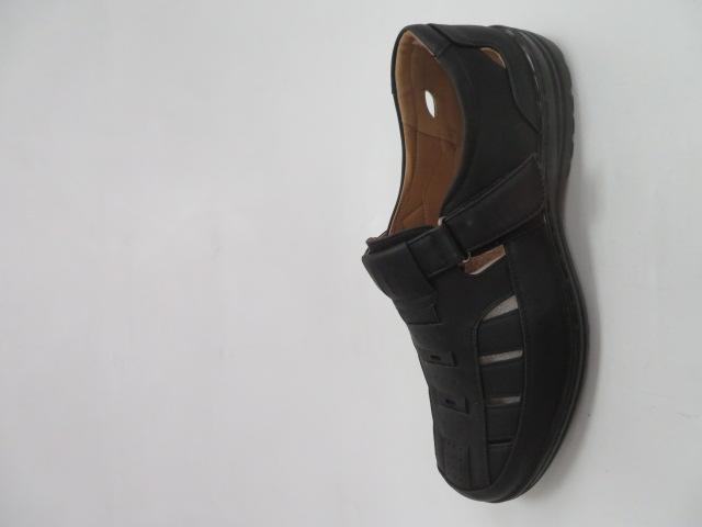 Półbuty Męskie 1305-1, Black , 41-46