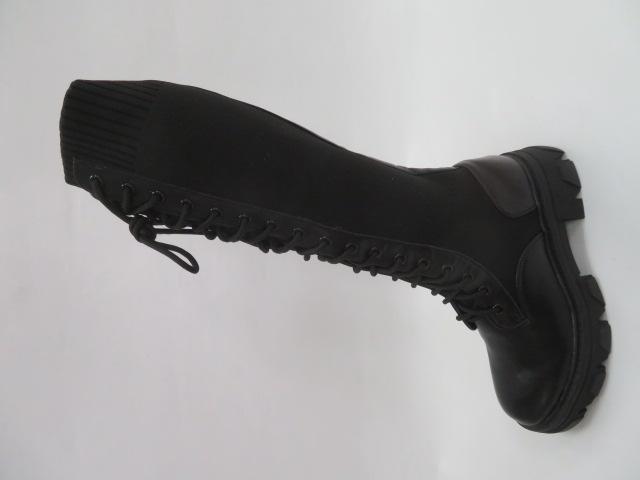 Kozaki Damskie 1999A, Black, 36-41