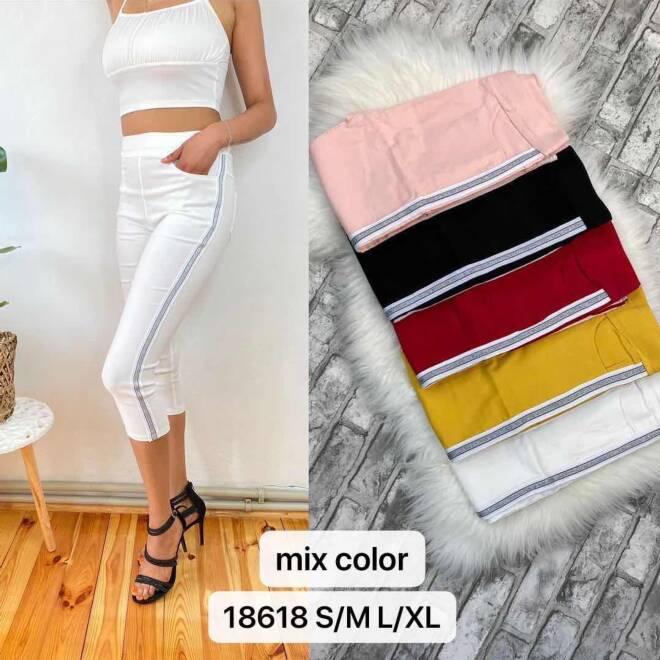 Spodnie  Damskie 18618 MIX KOLOR S/M-L/XL