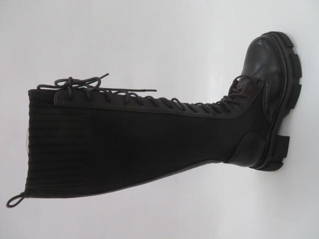 Kozaki Damskie 8380, Black, 36-41