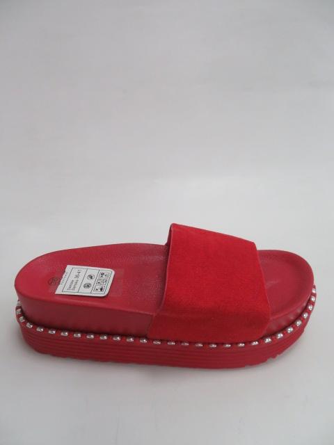 Klapki Damskie 3808, Red, 36-41
