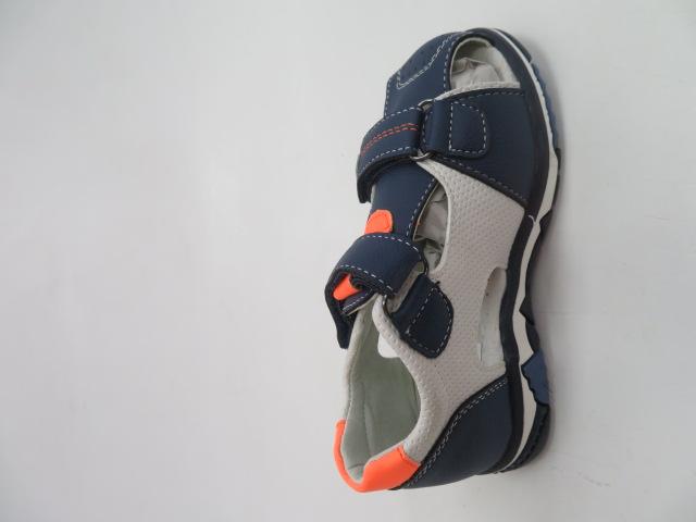 Sandały Dziecięce F660, Navy/Orange, 26-31