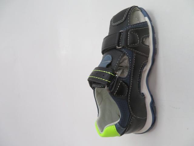 Sandały Dziecięce F653, Black/Green, 25-30