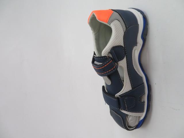 Sandały Dziecięce F653, Navy/Orange, 25-30