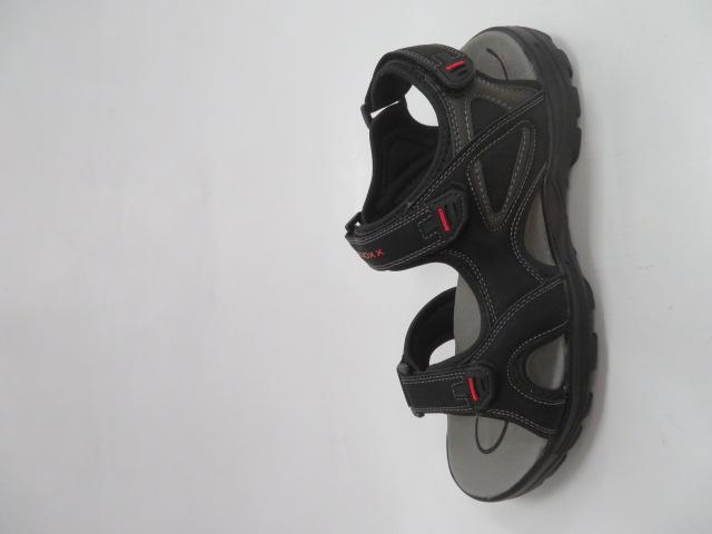 Sandały Męskie 9SD 9036, Black/Red, 41-46