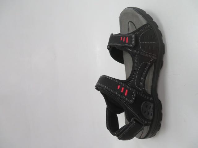 Sandały Męskie 9SD 9134, Black/Red, 41-46