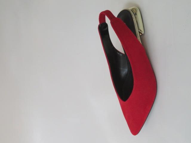 Czółenka Damskie  FL-351A, Red, 36-41