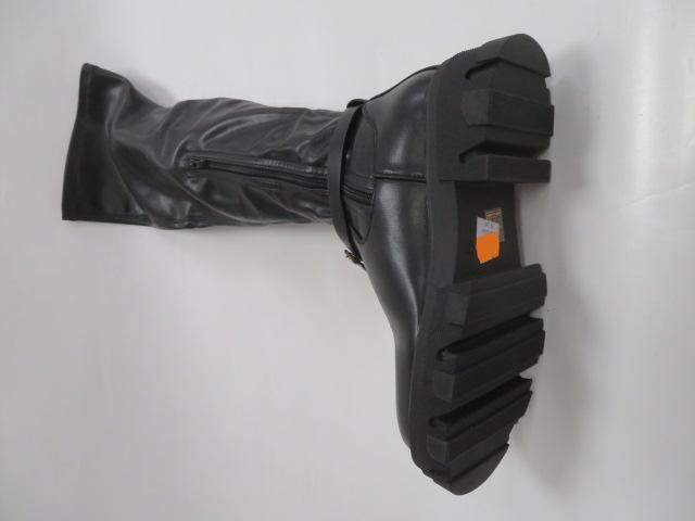 Kozaki Damskie DE1085P, Black, 36-41 4