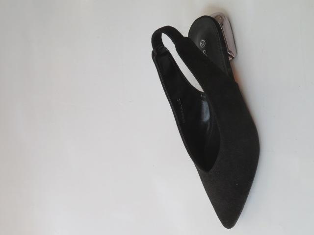 Czółenka Damskie  FL-351A, All Black, 36-41