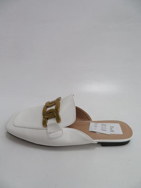 Klapki Damskie 456-2A, White, 36-41