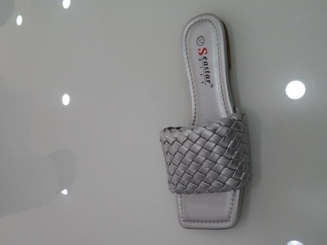 Klapki Damskie T375, Silver, 36-41