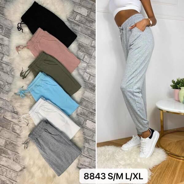 Spodnie Damskie 8843 MIX KOLOR S/M-L/XL