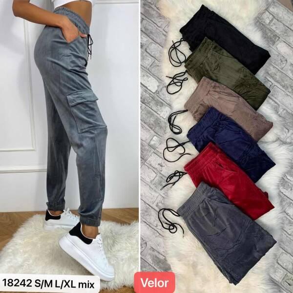 Spodnie Damskie 18242 MIX KOLOR S/M-L/XL