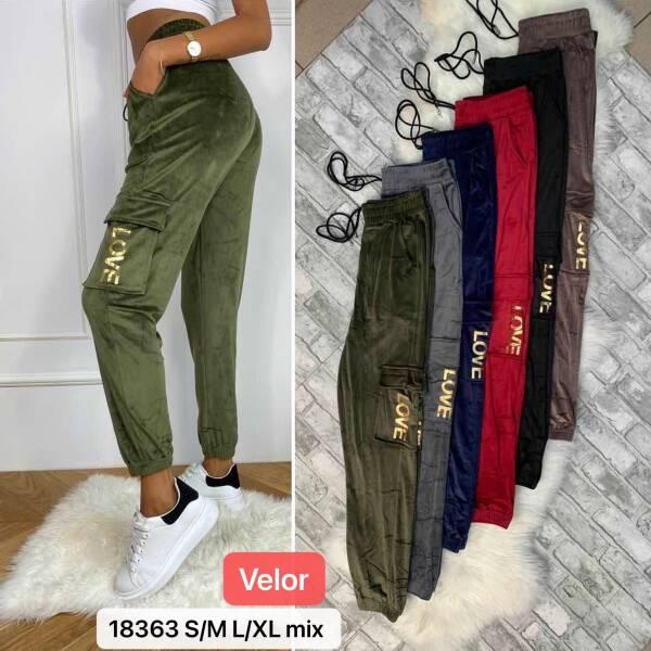 Spodnie Damskie 88363 MIX KOLOR S/M-L/XL