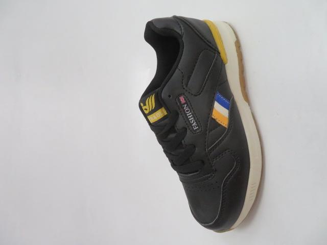 Buty Sportowe Dziecięce 188-5, Black/Yellow , 30-35