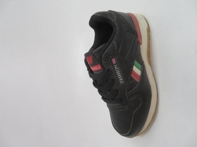 Buty Sportowe Dziecięce 188-4, Black/Wine , 30-35