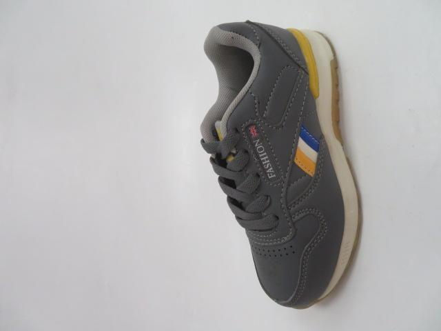 Buty Sportowe Dziecięce 188-1, Grey/Yellow , 30-35
