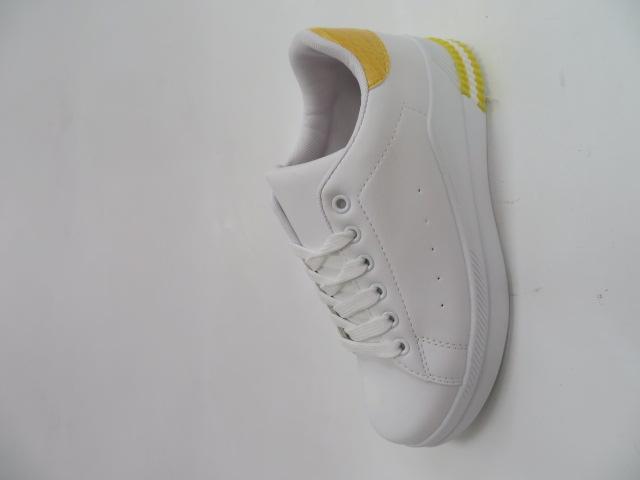 Trampki Damskie J107, White/Yellow, 36-41