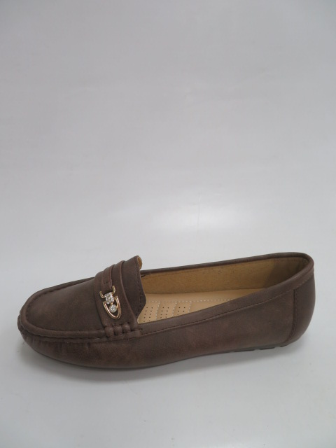 Baleriny Damskie 9F183, Brown, 36-41
