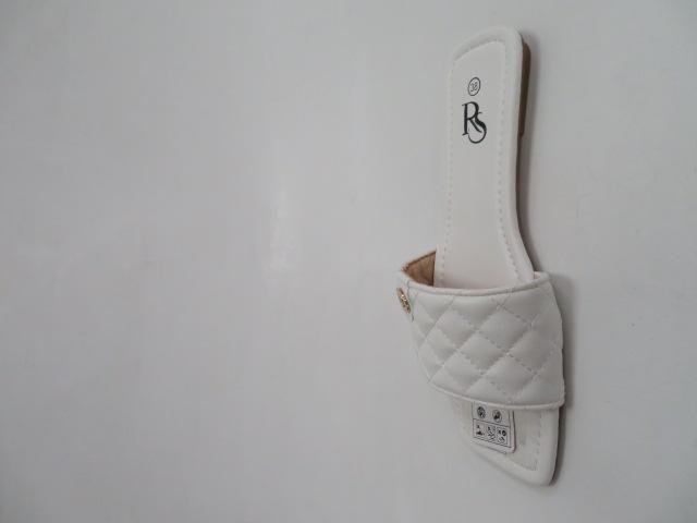 Klapki Damskie LS-33, White, 36-41 2