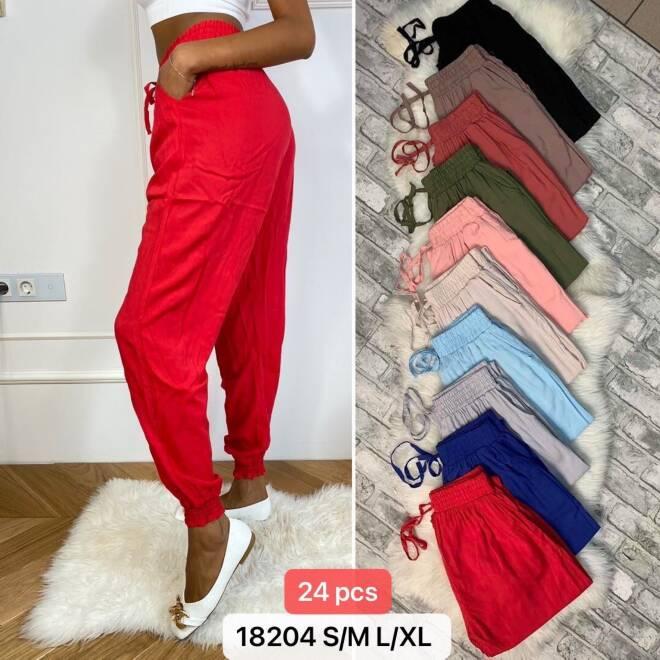 Spodnie Damskie 18204 MIX KOLOR S/M-L/XL
